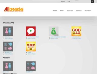 alldnnskins.com screenshot