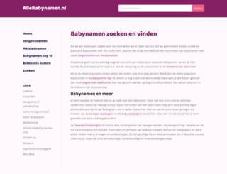 allebabynamen.nl screenshot