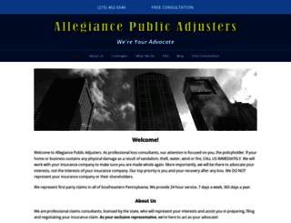 allegianceadjusters.com screenshot