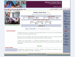 allegro-paris.hotel-rv.com screenshot