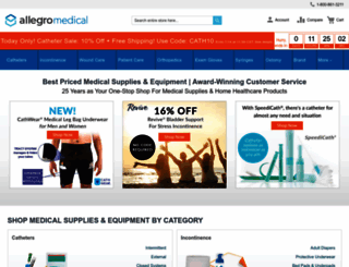 allegromedical.com screenshot