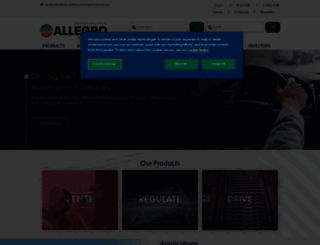 allegromicro.com screenshot