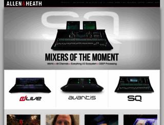 allen-heath.com screenshot