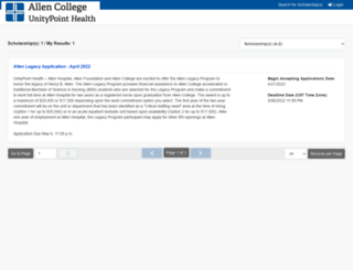 allencollege.communityforce.com screenshot