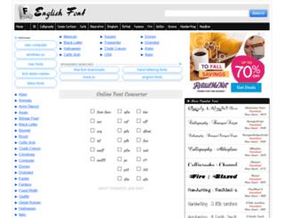 allenglishfont.com screenshot