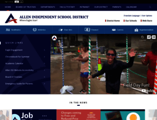allenisd.org screenshot