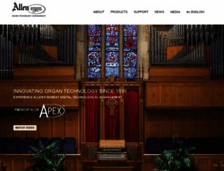 allenorgan.com screenshot