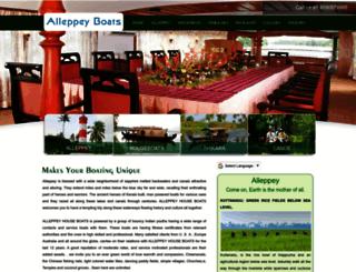 alleppeyboats.com screenshot
