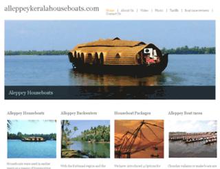 alleppeykeralahouseboats.com screenshot