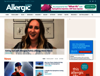 allergicliving.com screenshot