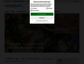allergiewelle.de screenshot