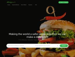 allergyaunt.com screenshot