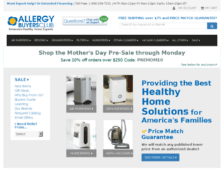 allergybuyersclubshopping.com screenshot
