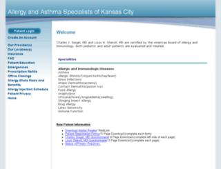 allergykc.mymedfusion.com screenshot