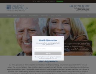 allergymedicaluk.com screenshot