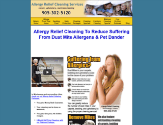 allergyreliefcleaning.com screenshot