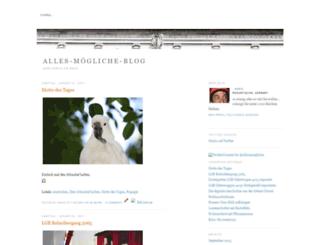 allesistmoeglich.blogspot.de screenshot