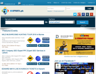 allevents.pk screenshot