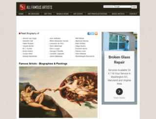allfamousartists.com screenshot