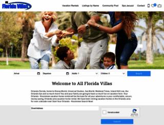 allfloridavillas.com screenshot