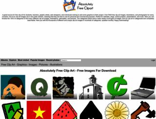 allfree-clipart.com screenshot