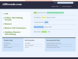 allfreeads.com screenshot