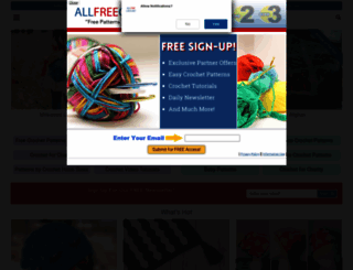 allfreecrochet.com screenshot