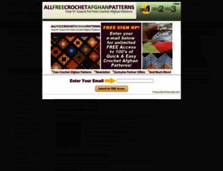 allfreecrochetafghanpatterns.com screenshot