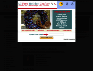 allfreeholidaycrafts.com screenshot