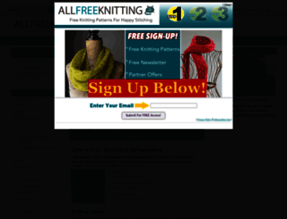 allfreeknitting.com screenshot