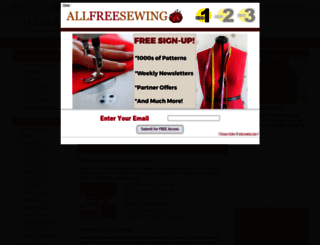 allfreesewing.com screenshot