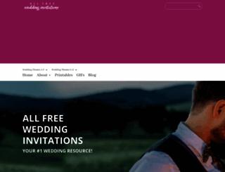 allfreeweddinginvitations.com screenshot