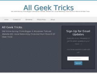 allgeektricks.com screenshot