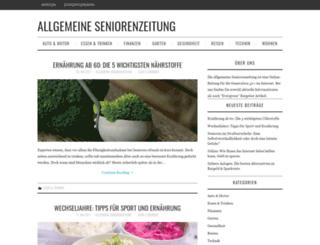 allgemeine-seniorenzeitung.de screenshot
