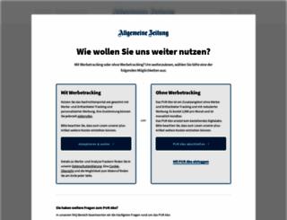 allgemeine-zeitung.de screenshot