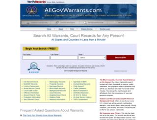 allgovwarrants.com screenshot