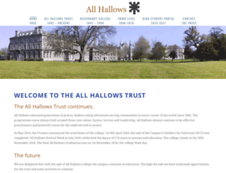 allhallows.ie screenshot
