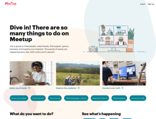 alliance.meetup.com screenshot