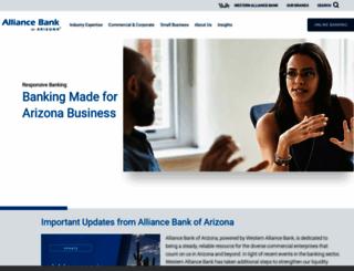 alliancebankofarizona.com screenshot