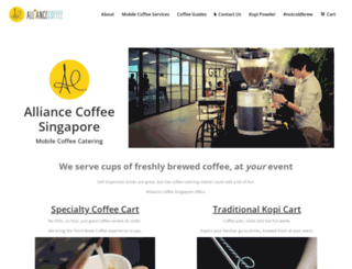 alliancecoffee.net screenshot