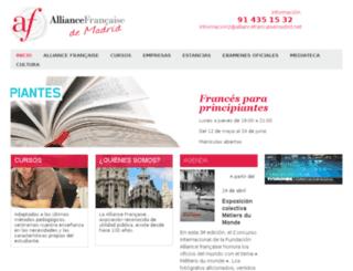 alliancefrancaisemadrid.es screenshot