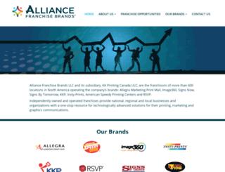 alliancefranchisebrands.com screenshot