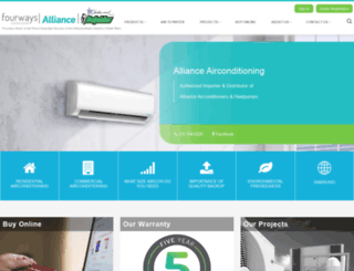 allianceheatpumps.co.za screenshot