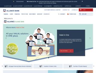 allianceislamicbank.com.my screenshot