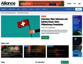 alliancemagazine.org screenshot