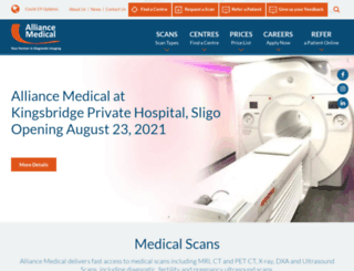 alliancemedical.ie screenshot
