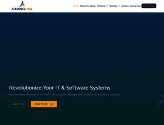 alliancepro.co.in screenshot
