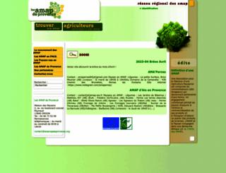 allianceprovence.org screenshot