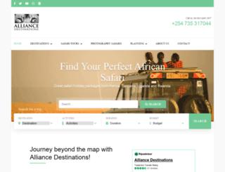 alliancesafaris.co.ke screenshot