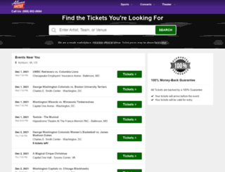 alliancetickets.com screenshot